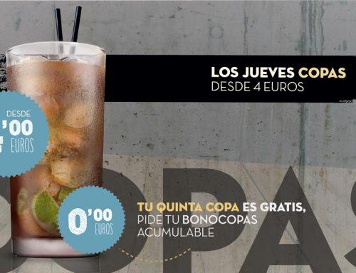 Oferta los jueves copas a 4 €