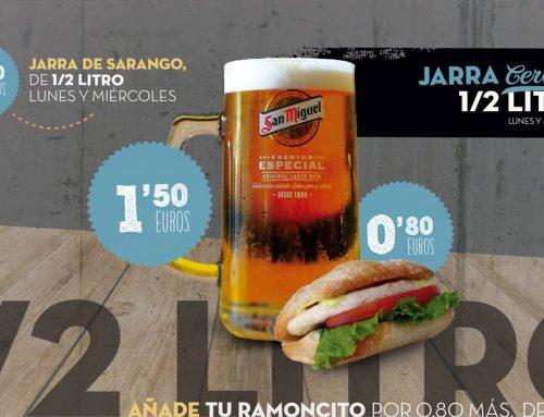 Oferta jarra de cerveza 500 ml